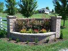 landscape design stone entrance sign - - Yahoo Image Search Results