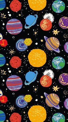 Wallpaper Iphone - 惑星 ☆彡 Tumblr Wallpaper, Screen Wallpaper, Cool Wallpaper, Wallpaper Space, Aztec Wallpaper, Drawing Wallpaper, Beautiful Wallpaper, Pink Wallpaper, Galaxy Wallpaper