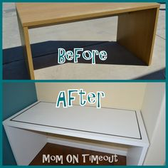 IKEA Desk Makeover - Mom On Timeout