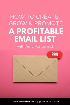 Listen to this episode of The Influencer Podcast with Amy Porterfield to learn how to create, grow and promote a profitable email list. And why it's more important than a follower number. Julie Solomon, The Influencer Podcast #JulieSolomon #TheInfluencerPodcast Email Marketing Design, Email Marketing Services, Email Marketing Strategy, Business Marketing, Business Tips, Online Marketing, Online Business, Marketing Ideas, Affiliate Marketing