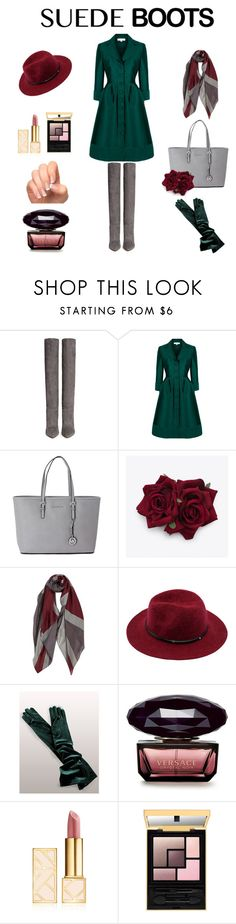 Suede Boots by adriana-claudia on Polyvore featuring Gianvito Rossi, Michael Kors, Tory Burch and suedeboots