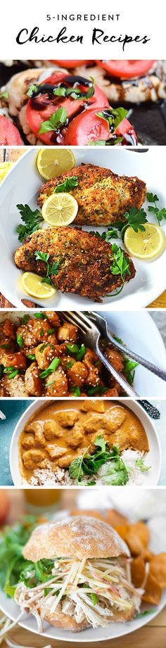 Here are ten flavorful chicken recipes that require only five ingredients—we're willing to bet you already have most of this stuff in your cupboard.