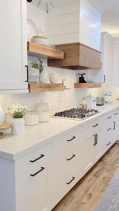 Mini Kitchen Tour - I shared with you the hood in my kitchen yesterday SO…. today I wanted to give you a closer look - Kitchen Pantry Design, Modern Kitchen Design, Home Decor Kitchen, Interior Design Kitchen, Kitchen Furniture, Custom Kitchen Cabinets, Modern Interior Design, Kitchen Ideas, Home Room Design