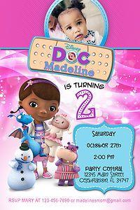 Disneys Doc Mcstuffins 1 Custom Birthday Party Invitation Photo Printable