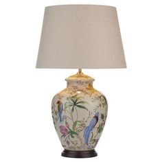 DAR MIM4202 Mimosa White Floral Bird Ceramic Table Lamp (Base Only). The DAR Lighting MIM4202 is part of the Table Lamps range. Buy DAR MIM4202.