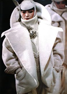 Fall/Winter 1982 - 1983  Oversized coat by Claude Montana