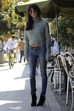 H&M Turtleneck, Abercrombie & Fitch Jeans, Zara Boots