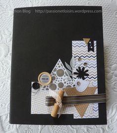 Anne : Album Chic et Kraft Album Photo Scrapbooking, Mini Albums Scrapbook, Scrapbook Pages, Packs Papier, Mini Album Scrap, Diy And Crafts, Paper Crafts, Altered Book Art, All Paper