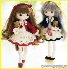 muñeca de punto Mora (descripción del tejido) - Juguetes crochet