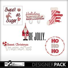 Enjoy these high quality designs by #Fit2beScrapped @MyMemoreis.com #DIgital #Creative #scrapbook #Craft #Peppermint_christmas_word_art