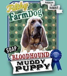 Bloodhound Muddy Puppy Dog Soap