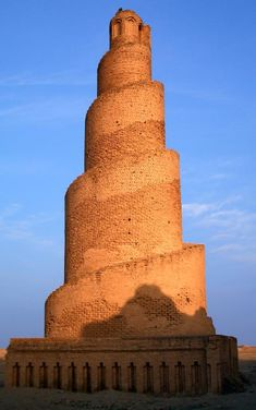 "The great mosque in Iraq, it called ""Malwiya"" or snail shell minaret.The piller was given something of a new life during the war in Iraq,and began to crumble under the firepower of modren weaponry"