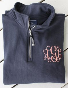 Monogrammed Quarter Zip Sweatshirt by GladevilleFarmhouse on Etsy. Can't wait for it to get cold!!