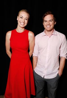 Yvonne Strahovski's red dress! & of course, Dexter, so he's cool too, but mostly her dress!