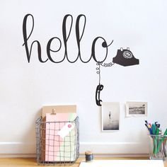 Discover this Wall sticker Hello Mimi Lou with Lili's : Online Shop for Decorative Objects, Lighting, Home Decor, Stationery. Swedish House Mafia, Cute Office, Decorative Objects, Decoration, Wall Stickers, Kids Room, Sweet Home, Stationery, Lily