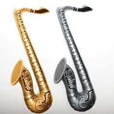 Saxophone Inflate by Century Novelty. $1.95. It's Time To Get Jazzy. The Saxophone Inflate is the perfect instrument to get the party jamming. Your children will love putting on a musical production with inflatable instruments. This blow up saxophone is perfect for music party favor bags, pool toys, and photo booth props. Saxophone is approximately 19. Assorted silver and gold colors. Rock out at your next musical gathering with fun instruments and music favors. Your guests...