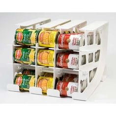 FIFO Can Tracker, Food Storage Organizer, Pantry Rotation (Up to 30 or 54 Cans)