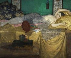 Silver & Gold - Sir William Russell FLINT (1880 –  1969) was a Scottish artist and illustrator who was known especially for his watercolour paintings of women. He also worked in oils, tempera, and printmaking.