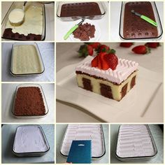 Puding Dolgulu Kek 2 Sweet Recipes, Cake Recipes, Dessert Recipes, Puding Cake, Delicious Desserts, Yummy Food, Chocolate Pastry, Baked Donuts, Turkish Recipes