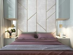 New Wall Paneling Ideas Bedroom Interior Design 59 Ideas Luxury Bedroom Design, Girl Bedroom Designs, Master Bedroom Design, Home Bedroom, Bedroom Wall, Home Interior Design, Bedroom Decor, Interior Ideas, Bedroom Headboards