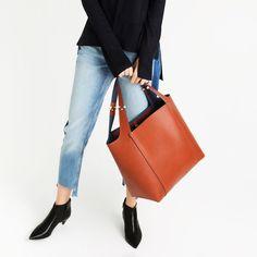 METALLIC DETAIL SHOULDER BAG-Large handbags-BAGS-WOMAN | ZARA United States