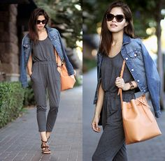 7c872424162e Adriana Gastélum - Sheinside Grey Jumpsuit