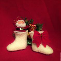 Buy souvenir boots - wool 100%, nuno felting, russian style, russian handmade