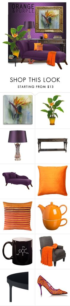 """Bird of Paradise"" by queenofsienna ❤ liked on Polyvore featuring interior, interiors, interior design, home, home decor, interior decorating, Grandin Road, ELK Lighting, Skyline and Pillow Decor"