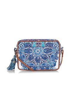 Ombre Tile Paisley Across Body Bag | Blue | Accessorize
