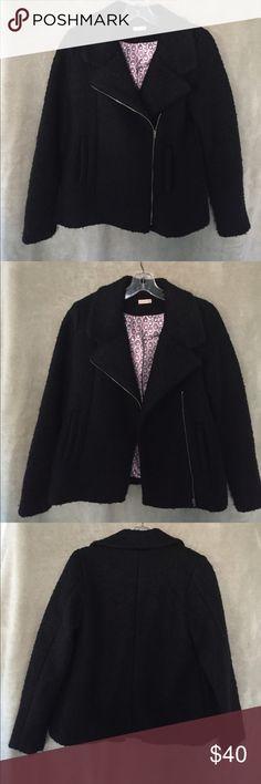 Girls Black Winter Coat Girls black wool coat with silk lining penny candy Jackets & Coats Pea Coats