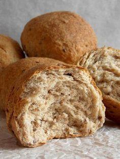 Graham zsemle Ciabatta, Biscotti, Graham, Food And Drink, Bread, Recipes, Brot, Recipies, Baking