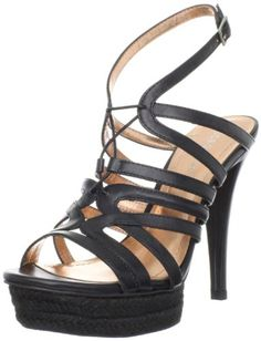 BCBGeneration Womens Orla SandalBlack10 M US ** Check this awesome product by going to the link at the image.
