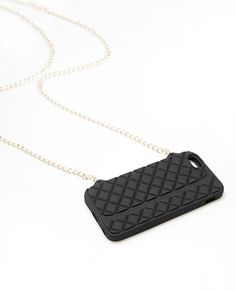 Rubber Quilted iPhone 6 Case With Chain | Wet Seal
