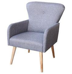Butaca vintage de estilo nórdico en color gris.