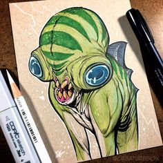 """""""Nothing bummed Gil more than a frozen lake. ❄️ More ridiculousness can be found in our artbooks—link in bio! Lake Monsters, Copic Markers, Inktober, Concept Art, Art Drawings, Cool Designs, Horror, Frozen, Character Design"""