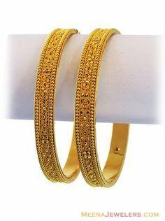 b9ac2744b40 22K Filigree Gold Bangles | Gold Bangles | Gold bangles design, Gold ...