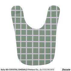 Baby Bib CRYSTAL EMERALD Pattern Cute Honey gift