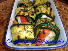 Involtini di zucchine alla mediterranea, ricetta light