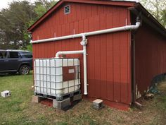 DIY Rainwater Collection System Complete Right Side