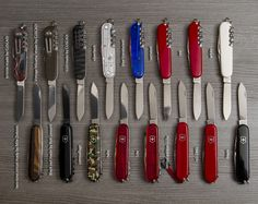 Victorinox Spartan group shot. Swiss army collection photo by M B Simons