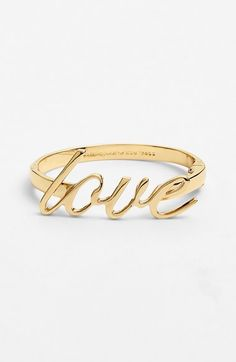 'love' bangle by kate spade new york