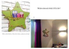 """Chez la petite Olivia, le pêle-mêle étoile """"famille hibou"""""""