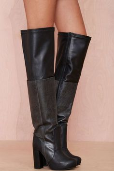 Jeffrey Campbell Elvira Leather Thigh High Boot | Shop Knee High at Nasty Gal