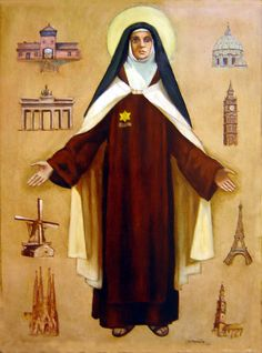 August 9 is the feast day of Saint Edith Stein. Stein, also known as Sister… Catholic Art, Catholic Saints, Patron Saints, Roman Catholic, St Edith Stein, Saint Costume, Maria Goretti, Religion, Santa Teresa