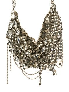 Meant to Mesh Bib Necklace in Crystal Clear by Sorrelli - $395.00 (http://www.sorrelli.com/products/NCR68MXCCL)