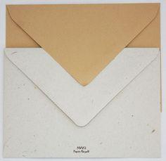 Enveloppe Kraft C6 16.2x11.4cm - papier recyclé