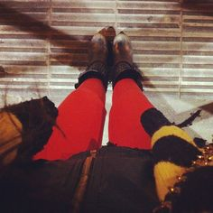red trousers, ash boots @evalblossom- #webstagram