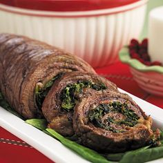Pinwheels are a fun and impressive way to serve steak. Stuffed with spinach, bacon and breadcrumbs, these pinwheels are tender and...
