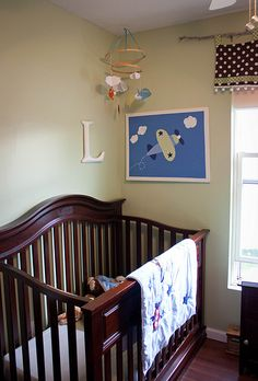 DIY paper airplane mobile--cute baby boy gift