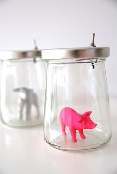 Veilleuse cochon ou agneau  Night light pig or by MoutonCerise, €30.00